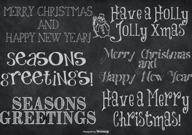 Cute Hand Drawn Style Christmas Lettering - Kostenloses vector #409977