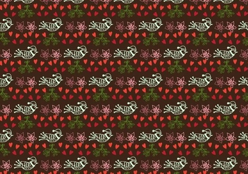 Hand drawn cute pattern Free Vector - бесплатный vector #409997