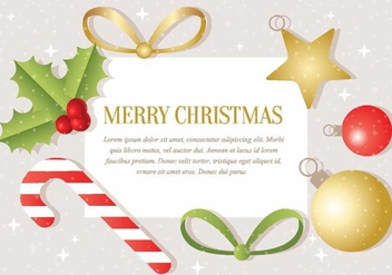 Free Vector Christmas Background - Free vector #410037