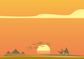 Sunset in Piramide Vector - Free vector #410097