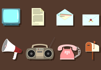 Communication Media Free Vector - vector #410147 gratis
