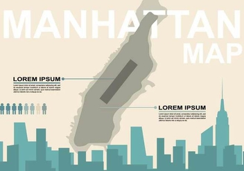 Free Manhattan Map Illustration - Kostenloses vector #410177
