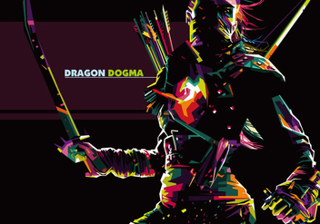 Dragons Dogma - Popart Portrait - бесплатный vector #410247