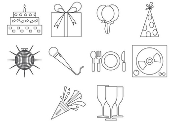 Free Party Icon Vector - Free vector #410317