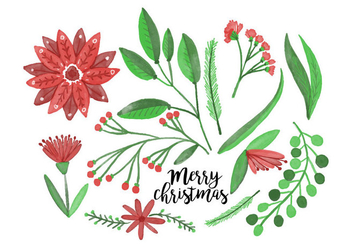 Free Christmas Flowers - Free vector #410337