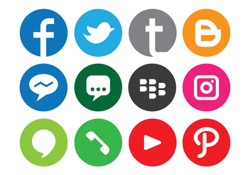 Social Media Logo - vector gratuit #410367