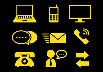 Free Comunication Icons Vector - Kostenloses vector #410447