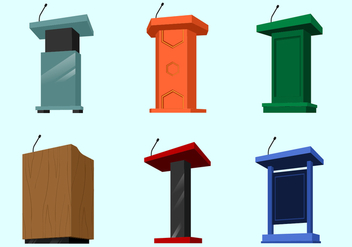 Perspective Lectern Free Vector - Free vector #410457