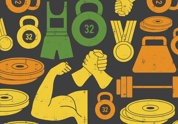 Weight Lifting & Arm Wrestling Icon - Free vector #410547