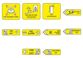 Free Emergency Sign Icon Vector - vector gratuit #410567