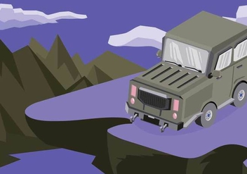 Free Jeep Illustration - Kostenloses vector #410617