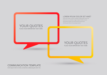 Communication Chat Illustration - vector #410627 gratis