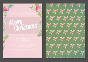 Vector Christmas Card - vector #410657 gratis