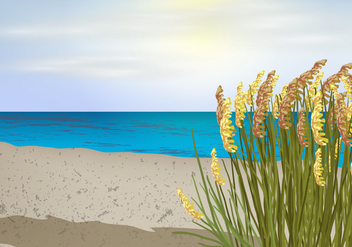 Sea Oats View - vector gratuit #410677