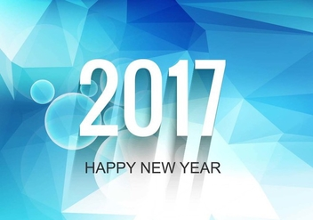 Free Vector New Year 2017 Modern Background - Free vector #410687