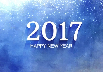 Free Vector New Year 2017 Background - vector gratuit #410717