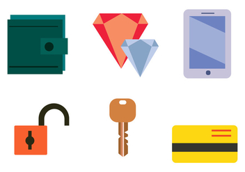 Common Stolen Items Vector Set - Free vector #410737