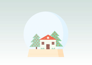Winter Globe Illustration - Free vector #410807