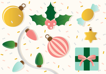 Free Christmas Vector Ornaments - Free vector #410857