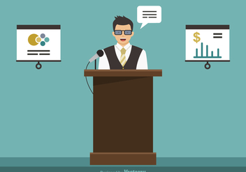 Free Business Seminar Vector Illustration - Kostenloses vector #410907