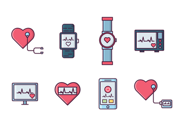 Free Heart Rate Monitor - Kostenloses vector #410977