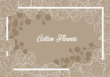Cotton Flower Illustration - Kostenloses vector #411017