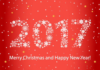 Free 2017 New Year Background Vector - бесплатный vector #411077
