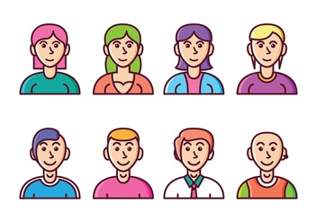 Free Avatar Icon Set - Free vector #411177