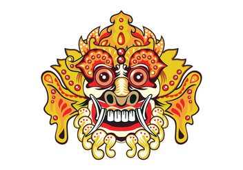Bright Barong Mask - Free vector #411257