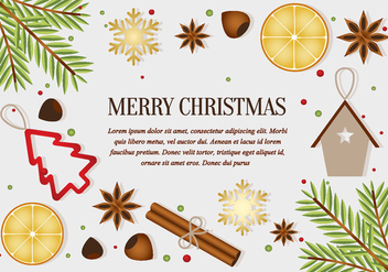 Free Christmas Elements Background Vector - Free vector #411297