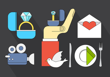 Free Wedding Icons - vector gratuit #411427
