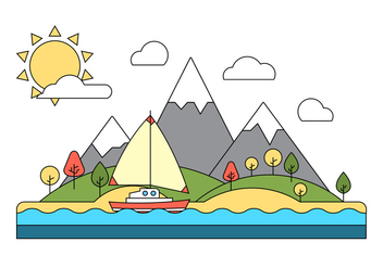 Free Landscape Vector Illustration - бесплатный vector #411527