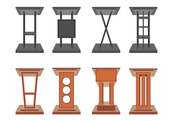 Lectern Vector Icons - Free vector #411587