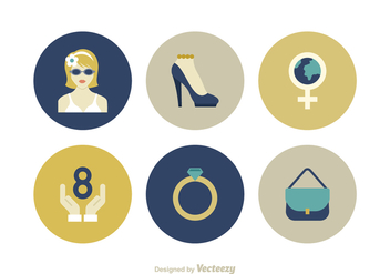 Free Women Day Vector Icons - vector gratuit #411607