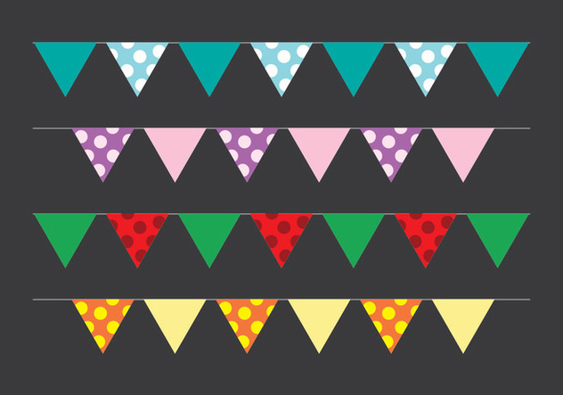 Bunting Party Flag - vector gratuit #411617