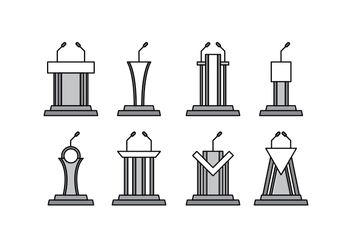 Free Lectern Vector Pack - Kostenloses vector #411667