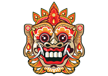 Bright Barong Mask - Free vector #411827