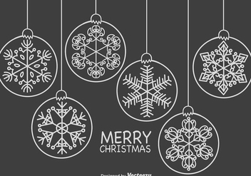 Line Style Template With Snowflakes Icons - Free vector #411947