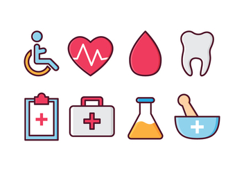 Free Medical Icon Set - vector gratuit #412217