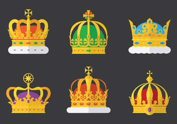 Free British Crown Icons Vector - vector gratuit #412277