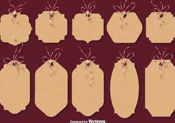 Christmas Cardboard Vector Cards - бесплатный vector #412327