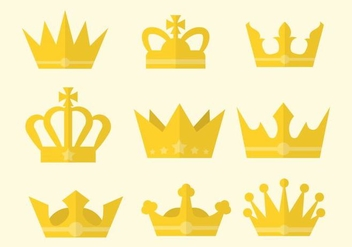 Free Flat British Crown Vector - бесплатный vector #412357