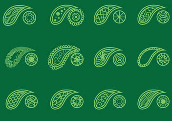 Set Of Cashmere On Green Background - Kostenloses vector #412367