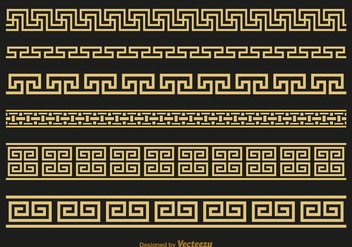 Free Versace Greek Key Brushes Vector - vector #412527 gratis