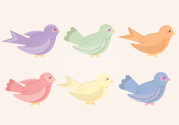 Vector Colourful Bird Collection - vector gratuit #412577