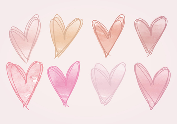 Vector Hand Drawn Hearts - Free vector #412587