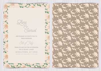 Vector Floral Wedding Invite - vector #412597 gratis