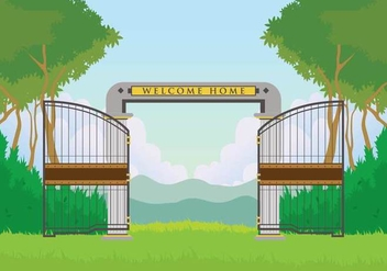 Free Open Gate Illustration - бесплатный vector #412637