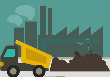Free Landfill Flat Vector Illustration - vector gratuit #412647