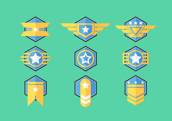 Brigadier Badge Vector Sets - бесплатный vector #412787